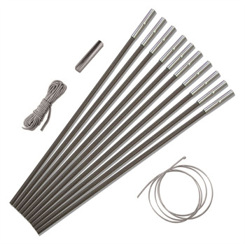Vango Aluminium Strong Durable Alloy Pole Sections Tent Camping 8.5mm 9.5mm