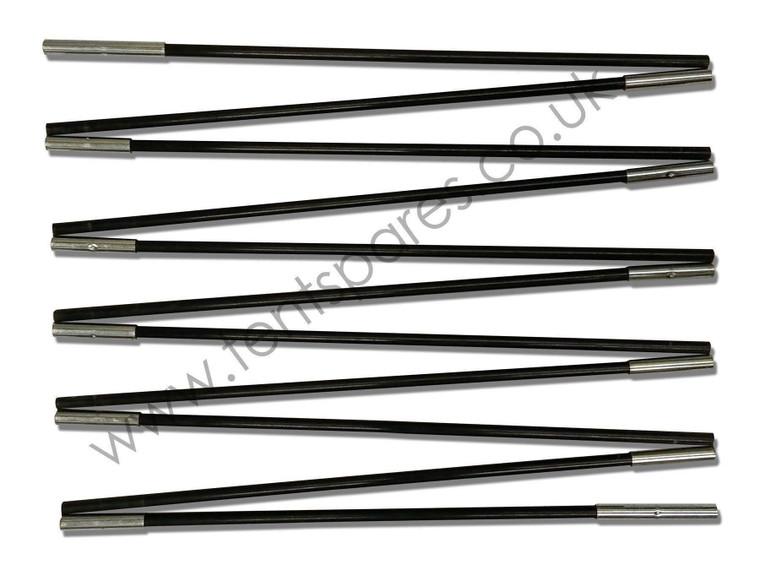 Vango Eos 550XL Black Coded Fibreglass Replacement Main Tent Pole Run 2013-2014