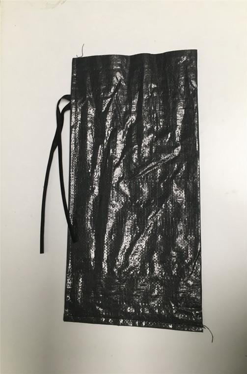 Heavy Duty Woven Polyethylene Peg Bag with Tie Straps - 43cm x  21cm
