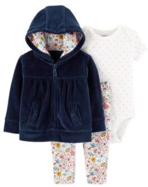 Baby Girl 3-Piece Little Jacket Set