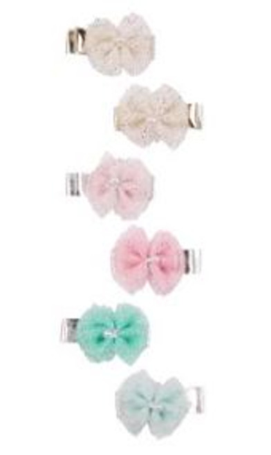 Baby Girl 6-Pack Bow Hair Clips