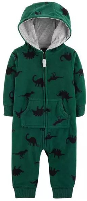 Dinosaur Hooded Fleece Jumpsuit