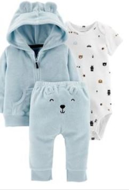 Baby Boy 3-Piece Terry Little Jacket Set