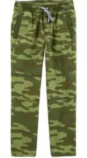 Kid Boy Camo Pull-On Poplin Pants