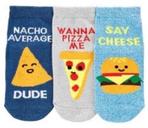 Kid Boy 3-Pack Food Ankle Socks