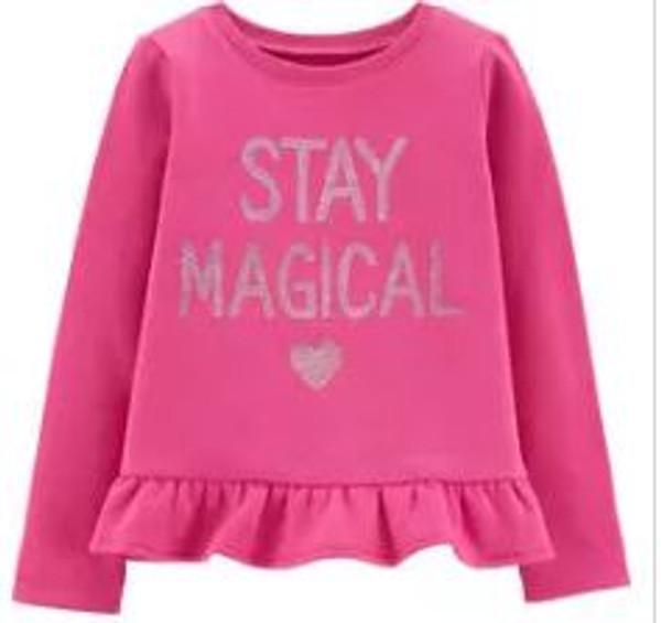 Baby Girl Glitter Stay Magical Fleece Top