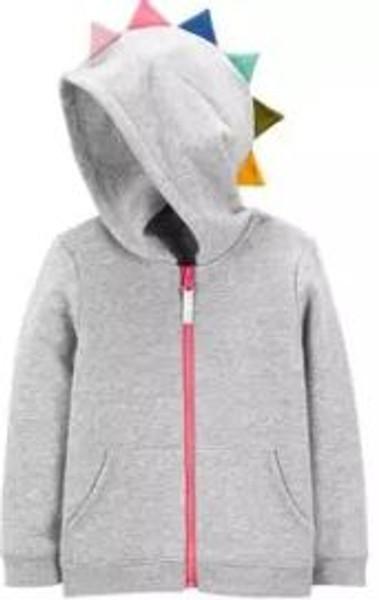 Baby Girl Zip-Up Spike Hoodie