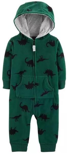 Dinosaur Hooded Fleece Jumpsuit