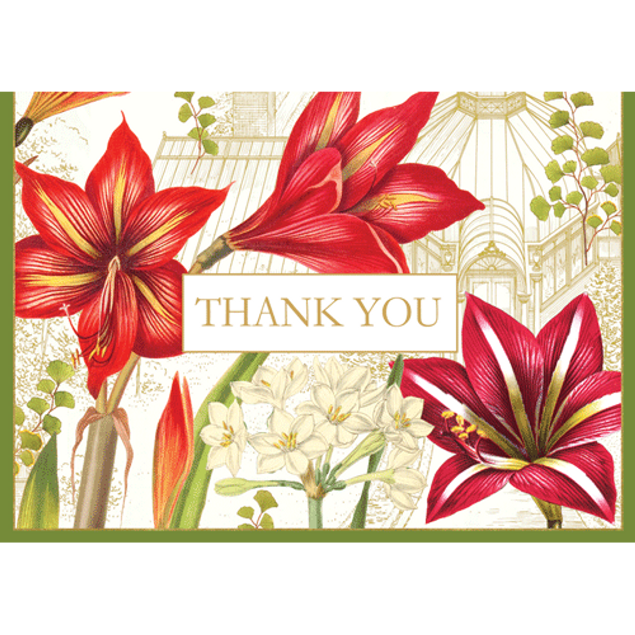 Christmas Thank You Cards.Christmas Blooms Thank You Cards With Box