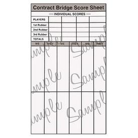 photograph regarding Printable Bridge Score Sheets referred to as Chicago Bridge Ranking Pads (6 Pads) - Baron Barclay Bridge Deliver