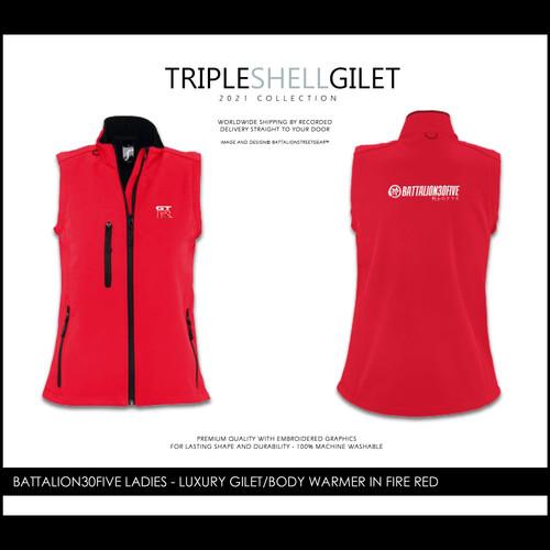 Battalionstreetgear©™ Battalion30five ladies embroidered triple luxury shell gilet