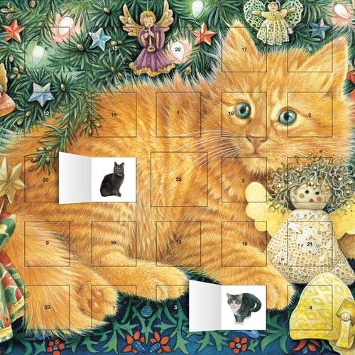 cat sticker advent calendar