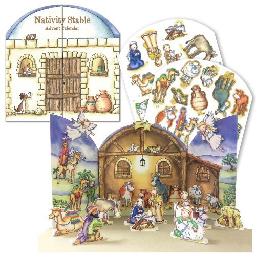 nativity stables advent calendar