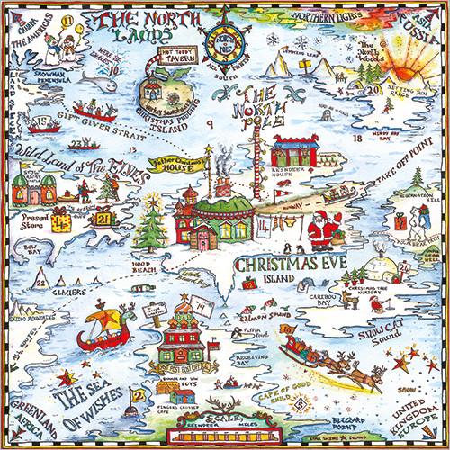 christmas map advent calendar