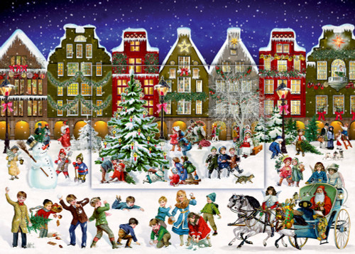 Winter Evening in the Town advent calendar