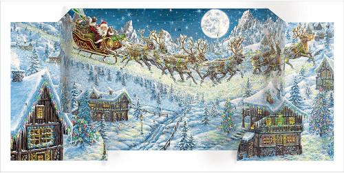flying sleigh advent calendar