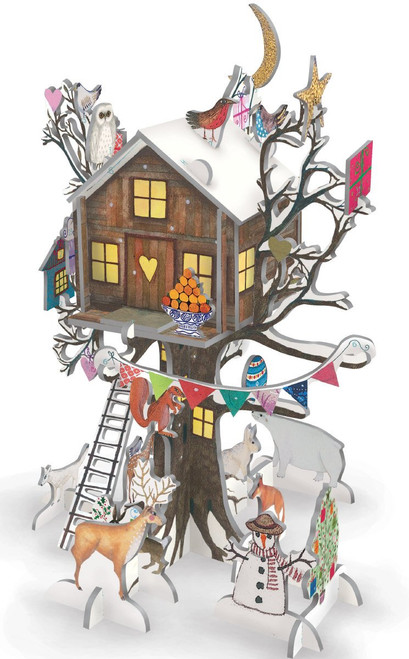 3D Treehouse Pop and Slot advent calendar