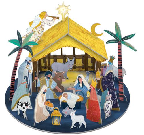 Away in a Manger Pop and Slot advent calendar