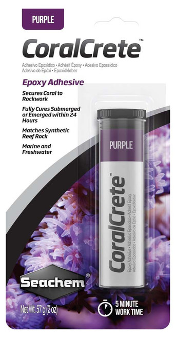 Seachem CoralCrete Epoxy Adhesive Purple 2oz