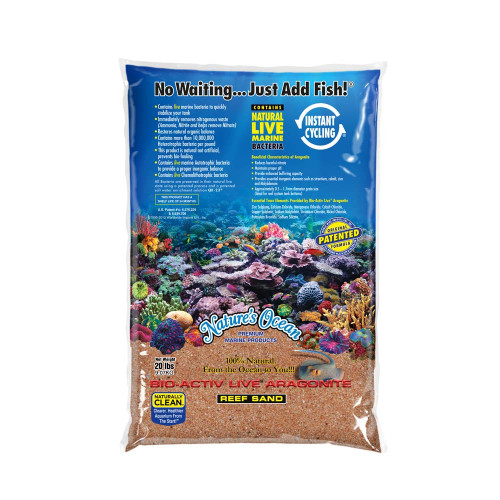 Nature's Ocean Bio-Activ Live Aragonite Australian Gold Live Sand 20lb
