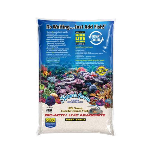Nature's Ocean Bio-Activ Live Aragonite Natural White #1 Live Sand 20lb