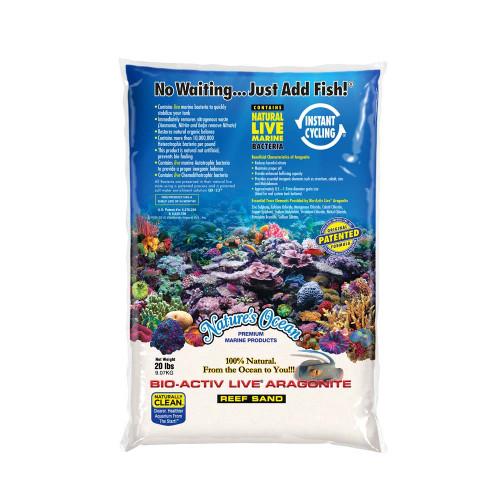 Natures Ocean Bio-Activ Live Aragonite Natural White#0 Live Sand 20lb