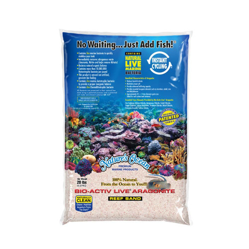 Nature's Ocean Bio-Activ Live Aragonite Samoa Pink Live Sand 20lb