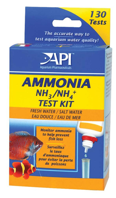 API Ammonia Test Kit Freshwater and Saltwater 130 Tests