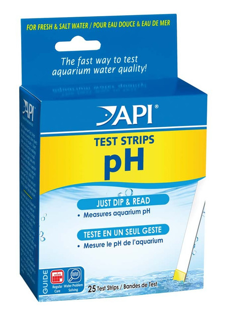 API pH Aquarium Test Strips 25 Tests