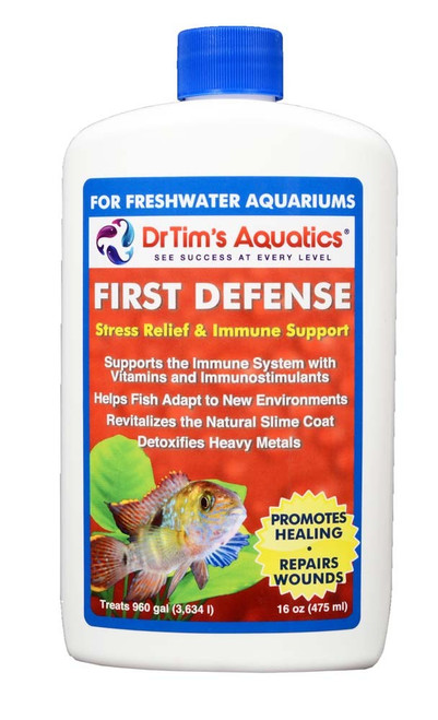 Dr Tim's Aquatics First Defense Stress Relief for Freshwater 16oz