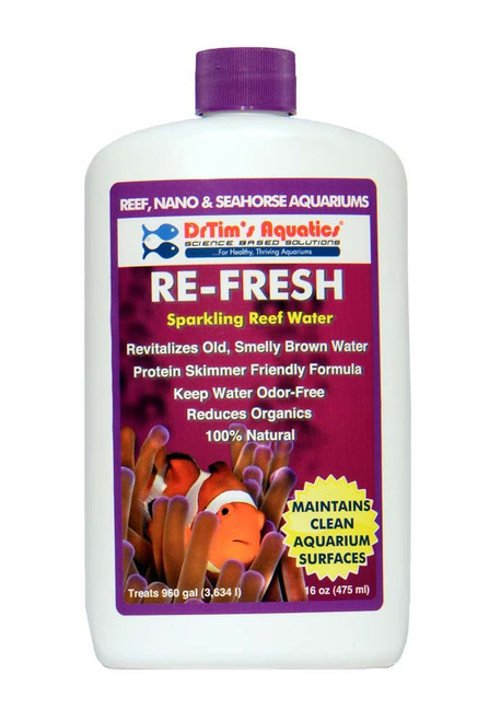 Dr Tim's Aquatics Re-Fresh Aquarium Revitalizer for Reef Aquaria 16oz