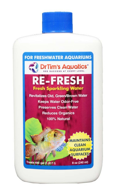 Dr Tim's Aquatics Re-Fresh for Clean Surfaces & Water for Freshwater 8oz