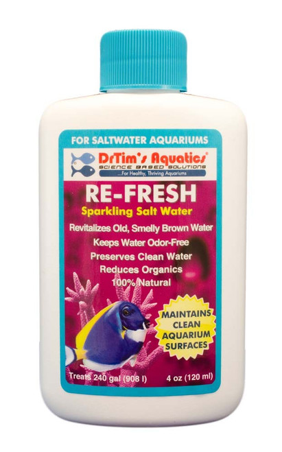 Dr Tim's Aquatics Re-Fresh for Clean Surfaces & Water for Saltwater 4oz