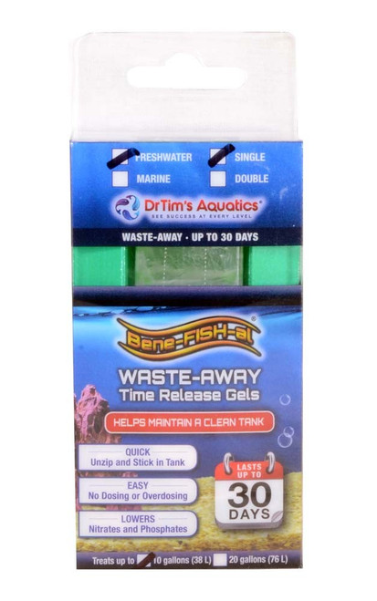 Dr Tim's Aquatics Waste-Away Time Release Gel Freshwater Small (10 gal) Single