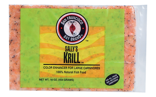 San Francisco Bay Frozen Krill Fish Food Flat Pack 16oz