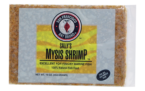 San Francisco Bay Frozen Mysis Fish Food Flat Pack 16oz