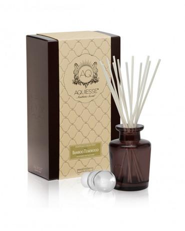 Aquiesse Portfolio Collection Bamboo Teakwood Reed Diffuser