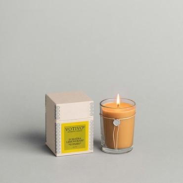 Votivo Aromatic Collection Sumatra Lemongrass Boxed Candle