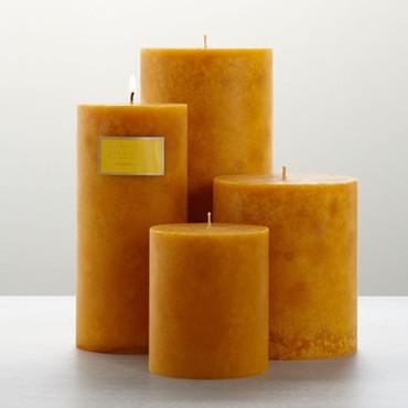 "Illume Amber Dunes 3"" x 3"" x 3.5"" Pillar Candle"