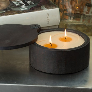 Himalayan Trading Post Tobacco Bark 2-Wick Medium Spice Pot Candle
