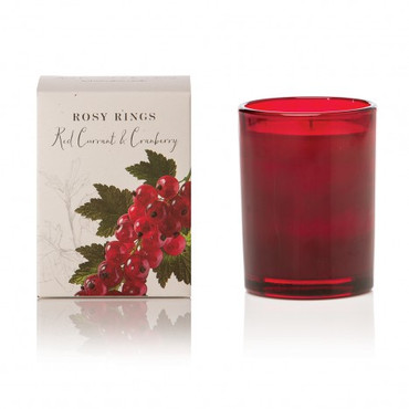Rosy Rings Red Currant & Cranberry Botanica Glass Candle