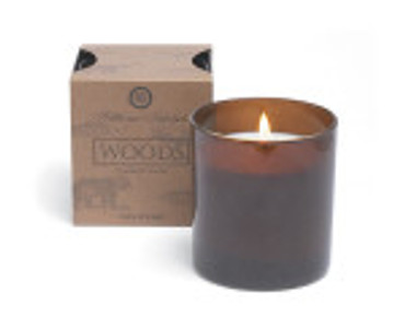 Hillhouse Naturals Woods Glass Boxed Candle