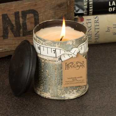 Himalayan Trading Post Patchouli Ginger White Spice Tin Candle