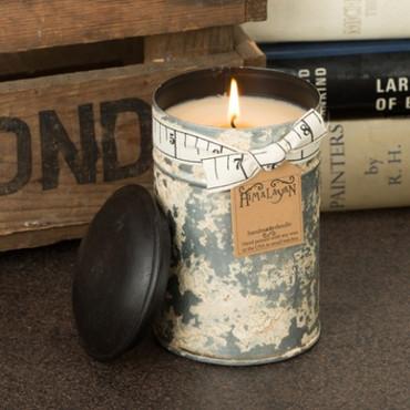 Himalayan Trading Post Bourban Vanilla Large White Spice Tin Candle