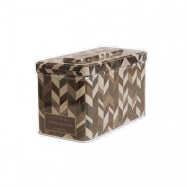 K. Hall Designs Cypress & Cassis 3-Wick Printed Tin Candle