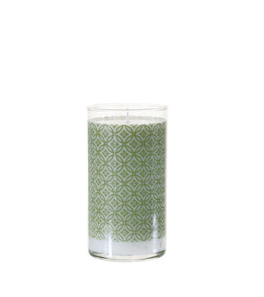 K. Hall Designs Moss Printed Glass Candle