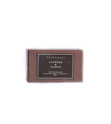 K. Hall Designs Cypess & Cassis Triple Milled Shea Butter Bar Soap
