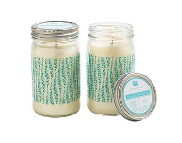 Hillhouse Naturals Salt Swept Glass Candle Jar