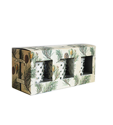 Simpatico No. 26 Scotch Pine 3 Piece Hobnail Votive Gift Set Holiday