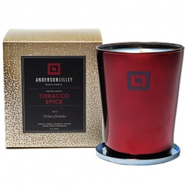 Anderson Lilley Tobacco Spice Glass Candle Winter Collection